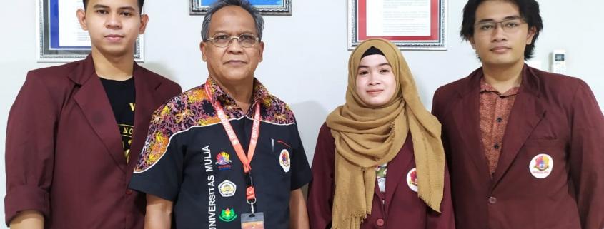 Mahasiswa Universitas Mulia penerima pendanaan Program Kreativitas Mahasiswa (PKM) 5 Bidang Tahun 2020 bersama Bapak Ir. Riyayatsyah, M.P.