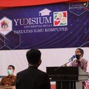 Sambutan Rektor Universitas Mulia Bapak Dr. Agung Sakti Pribadi, S.H., M.H. pada Yudisium Fakultas Ilmu Komputer Sabtu (19/09)