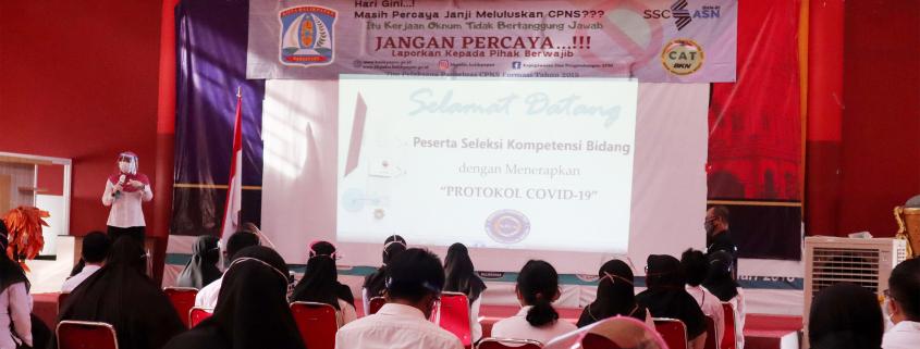 Suasana Pembukaan Seleksi Kompetensi Bidang (SKB) CPNS di Universitas Mulia