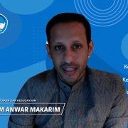 Menteri Pendidikan dan Kebudayaan RI Nadiem Anwar Makarim saat memberikan sambutan pada Program Pengenalan KehidupanKampus bagi Mahasiswa Baru 2020 di perguruan tinggi di seluruh Indonesia. Foto: Tangkapan Layar