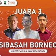 """Tim PSDKU """"Sibasah Borneo"""" Raih Juara Tiga Kompetisi ITK-IBD"""