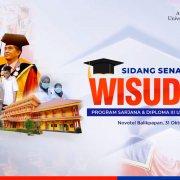 Cover Sidang Terbuka dan Wisuda Sarjana dan Diploma ke-II Universitas Mulia, Sabtu (31/10). Foto: YouTube
