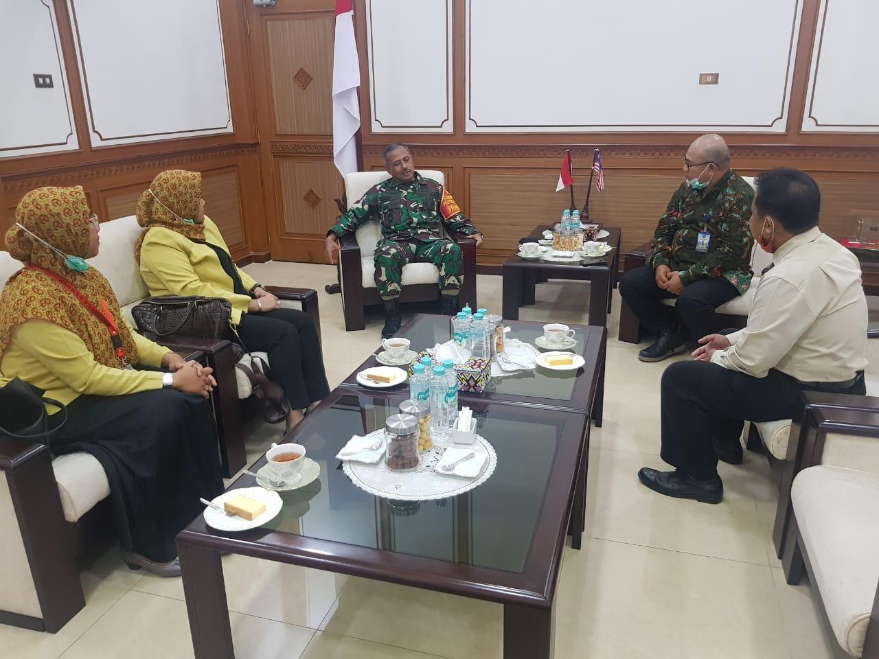 Audiensi dengan Pangdam VI/Mulawarman Mayjen TNI Heri Wiranto, Senin (23/11)