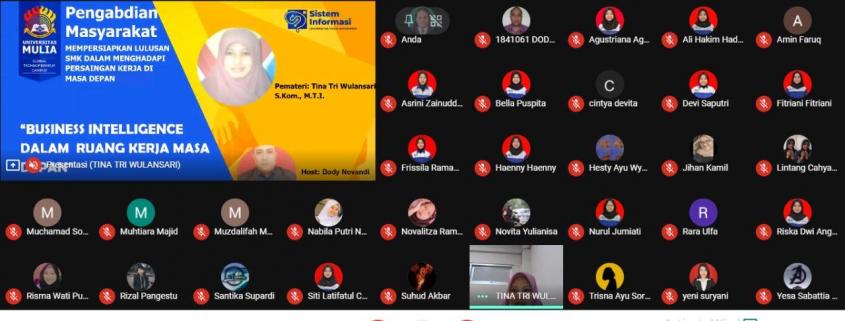 Tampak Webinar Pengabdian Kepada Masyarakat Dosen PSDKU Samarinda (27/11)