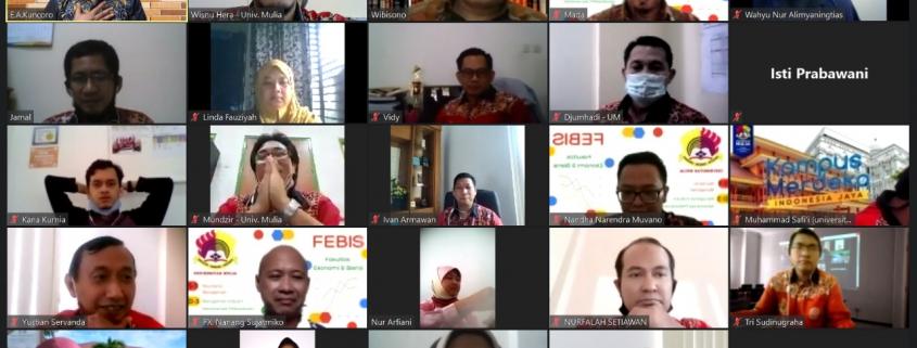 Tangkapan Layar Diskusi Terbatas bersama Dr. Engkos Achmad Kuncoro, S.E., M.M. dari Universitas Bina Nusantara Jakarta, Kamis (11/2).