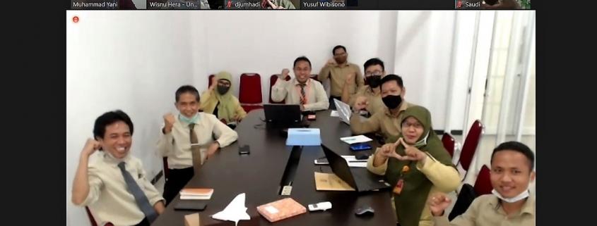 Kick-off Meeting Lentera LMS Airlangga, Senin (1/2). Foto: Zoom Meeting