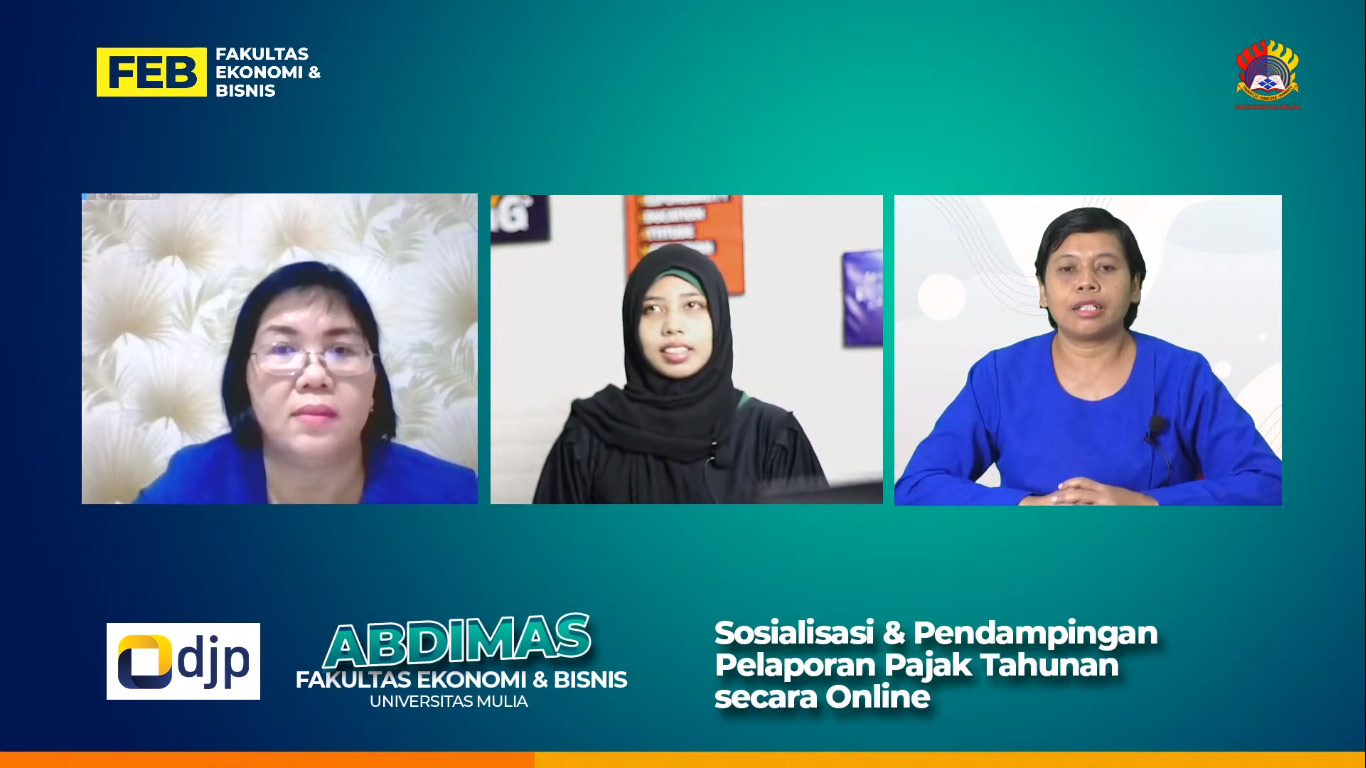 Sosialisasi dan Pendampingan Pelaporan SPT Tahunan bagi wajib pajak, Rabu (10/3). Foto: Tangkapan layar