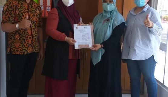 Proses saat penandatanganan perjanjian kerjasama antara Prodi S1 Manajemen Universitas Mulia Balikpapan dengan BPJS-TK Kota Balikpapan