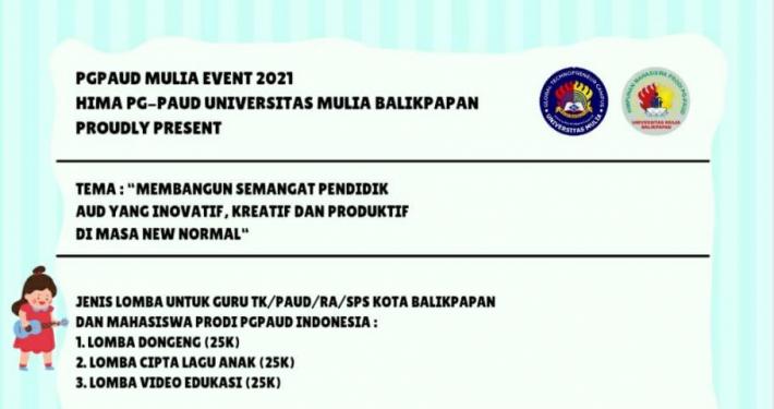 PG PAUD Mulia Event 2021 Diikuti Mahasiswa dan Guru dari Berbagai Daerah di Indonesia