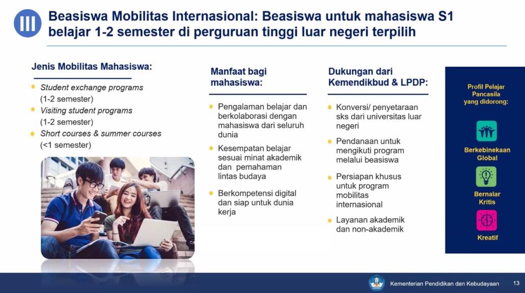 Flagship Beasiswa Mobilitas Internasional. Foto: Wisnu