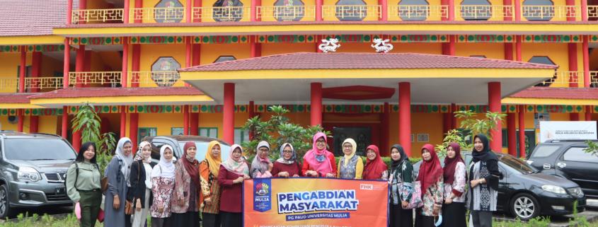 Program Studi S1 PG PAUD Universitas Mulia tampak berfoto bersama Anggota Forum SPS Kota Balikpapan usai menggelar Pelatihan Peningkatan Kompetensi di Kampus Universitas Mulia (6/5/21)