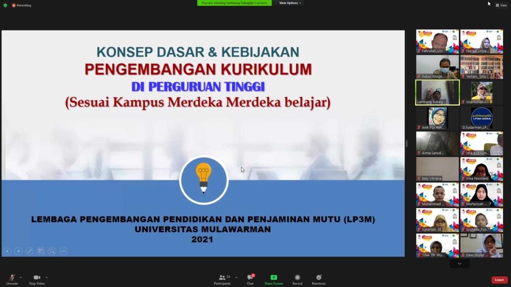 Pelatihan Pekerti oleh Prof. Lambang Subagiyo. Senin, 2 Agustus 2021.
