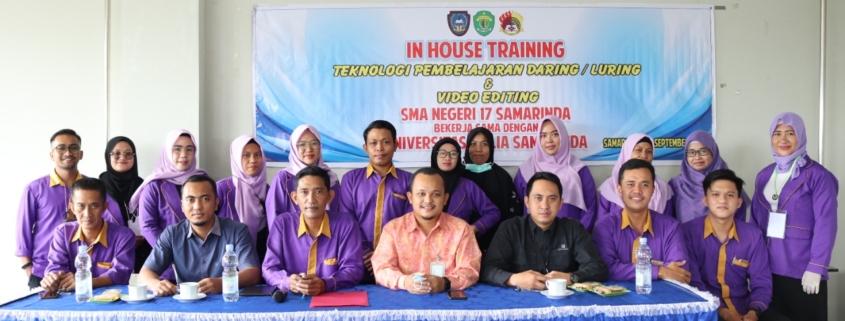 Foto bersama Kepala Kantor PSDKU Kampus Samarinda Muhammad Yani (tengah) bersama para guru SMA Negeri 17 Samarinda