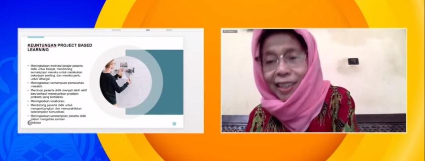 Prof. Dr. Sri Umi Mintarti W dari Universitas Negeri Malang saat memberikan paparan tentang Pembelajaran Inovatif di Universitas Mulia. Foto: Tangkapan layar